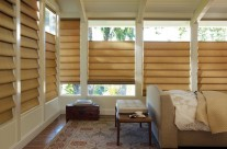 Roman Shades, Hobbled, Hunter Douglas, bottom up top down