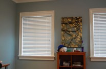 2″ Wood Blind / Graber Traditions, with plain valance